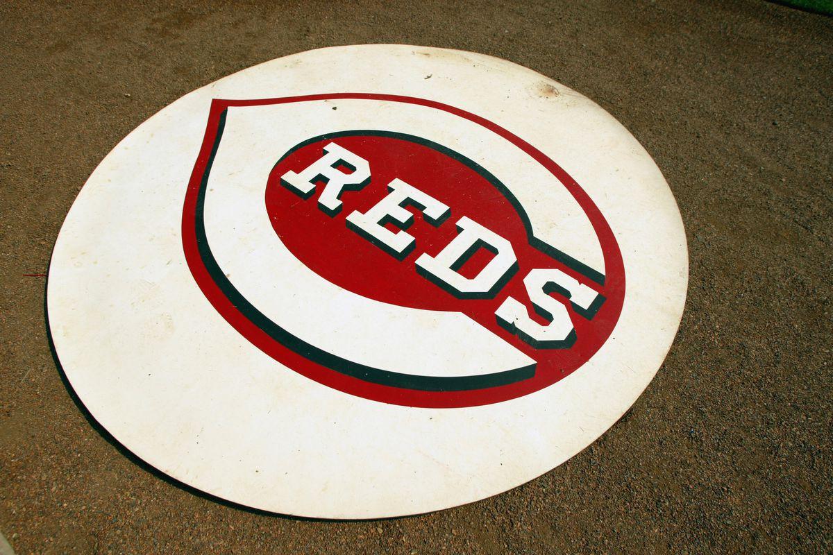 Detailed shot of the Cincinnati Reds logo
