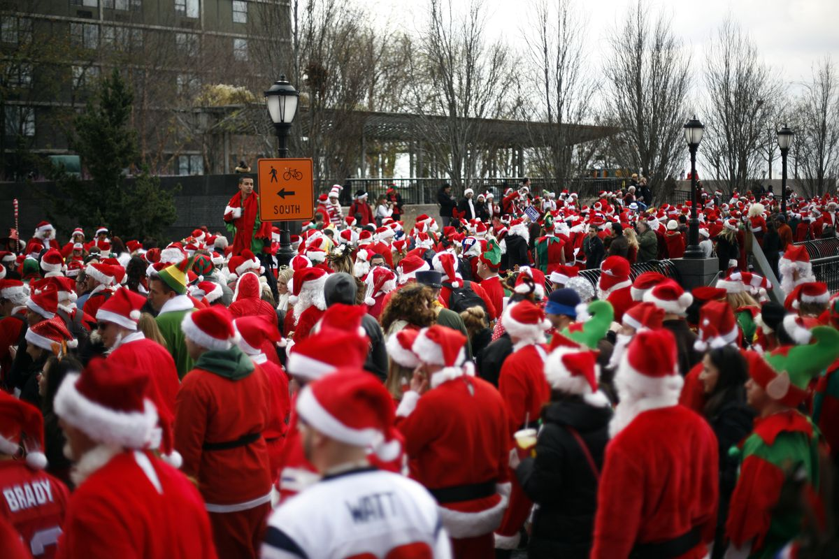 Annual SantaCon Held In New York City