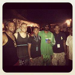 "Snoop Dog backstage. Photo via <a href=""http://instagr.am/p/Jv-aA7v9Iq/"">Instagram/Snoopdogg</a>"
