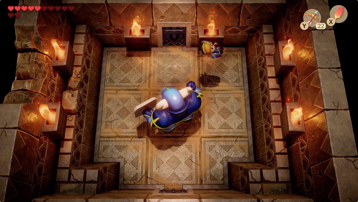 Link's Awakening Face Key Armos Knight mini-boss fight
