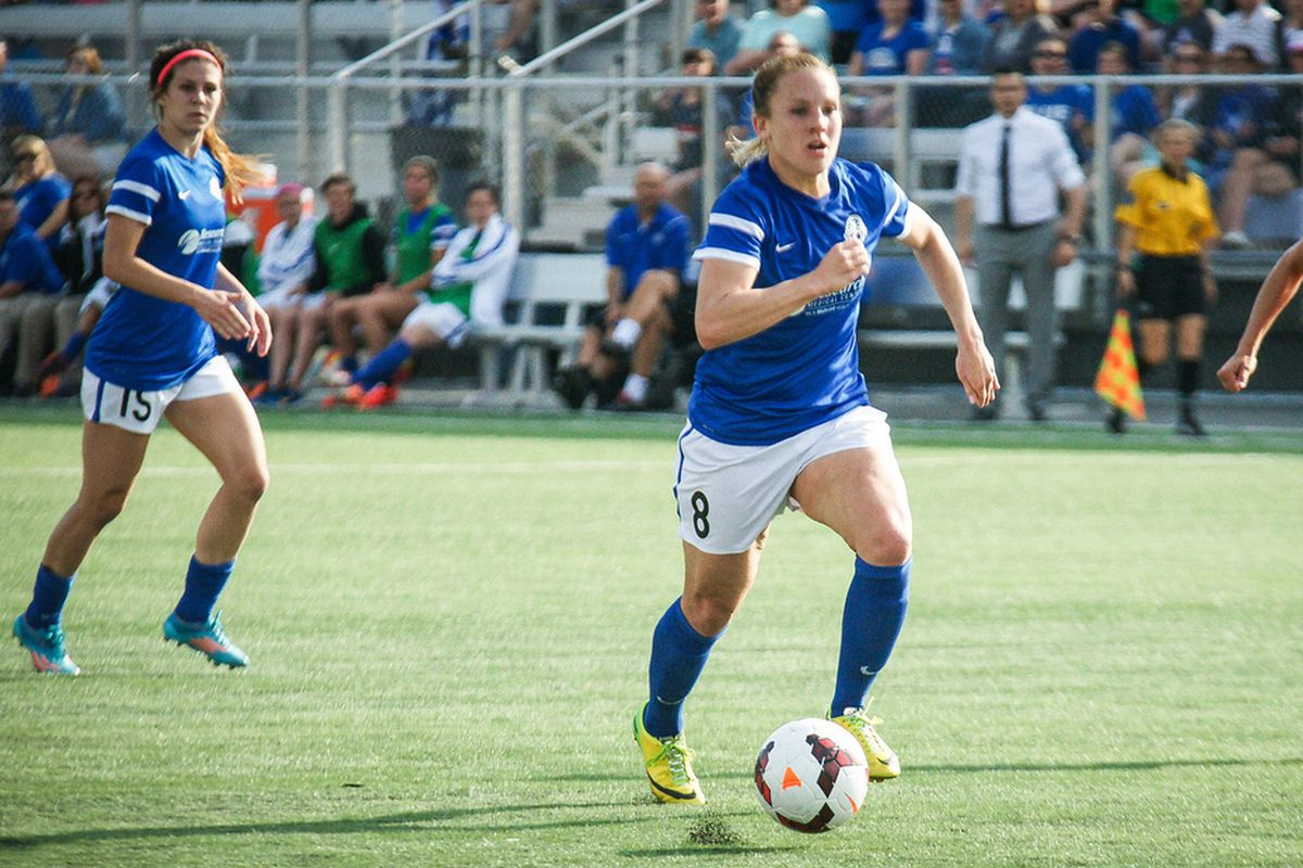 The Blues Amy Rodriguez sits in second with 8 goals scored