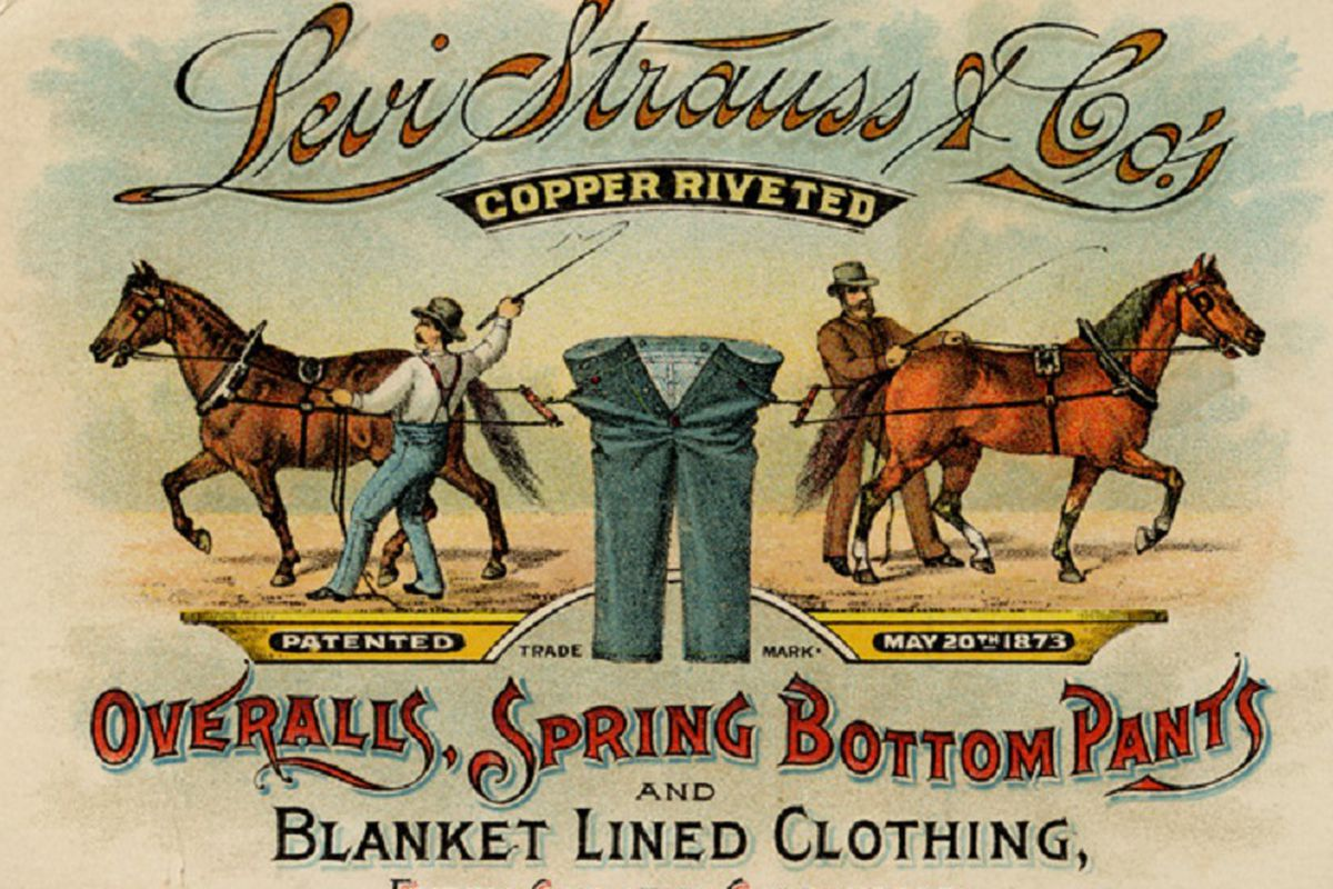 """Image via <a href=""""http://www.levistrauss.com/unzipped-blog/2014/05/horse-power-the-story-behind-our-jeans-literally/"""">Levi Strauss</a>."""