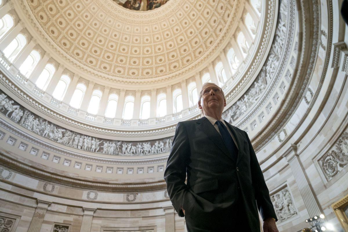 Sen. John McCain (R-AZ) Lies In State In The Rotunda Of U.S. Capitol