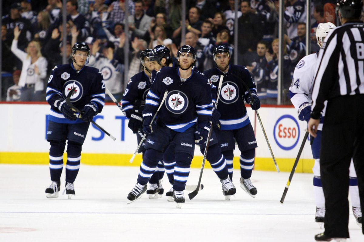 The Jets had a field day today. Mandatory Credit: Bruce Fedyck-US PRESSWIRE