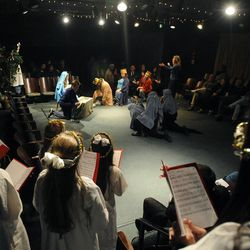 """The cast performs """"The Best Christmas Pageant Ever"""" at the Valley Center Playhouse in Lindon on Thursday, Dec. 12, 2013. Owners Keith and Jody Renstrom are closing the playhouse on Dec. 21 after 38 years of community theater."""
