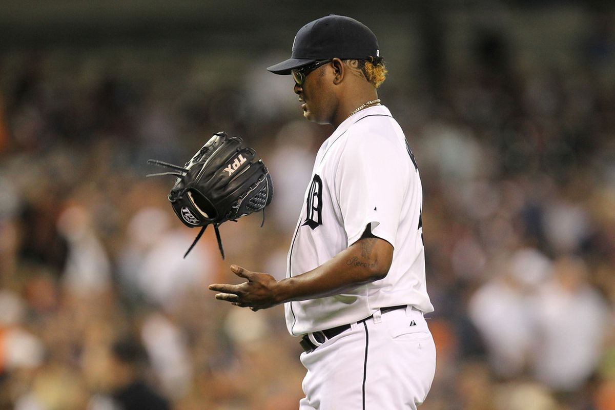 Jose Valverde (pictured in Friday's game) injured his right (throwing) wrist Tuesday.