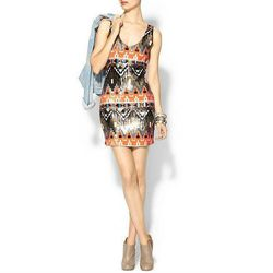 """<a href=""""http://piperlime.gap.com/browse/product.do?cid=92937&vid=1&pid=936321002"""">Sequin Aztec Mini Dress</a>, $49.97 (was $89.00) <br></br> <b>Piperlime:</b> The under-$50 scores are mostly on-sale items, and many are clearly spring goods. But thanks"""