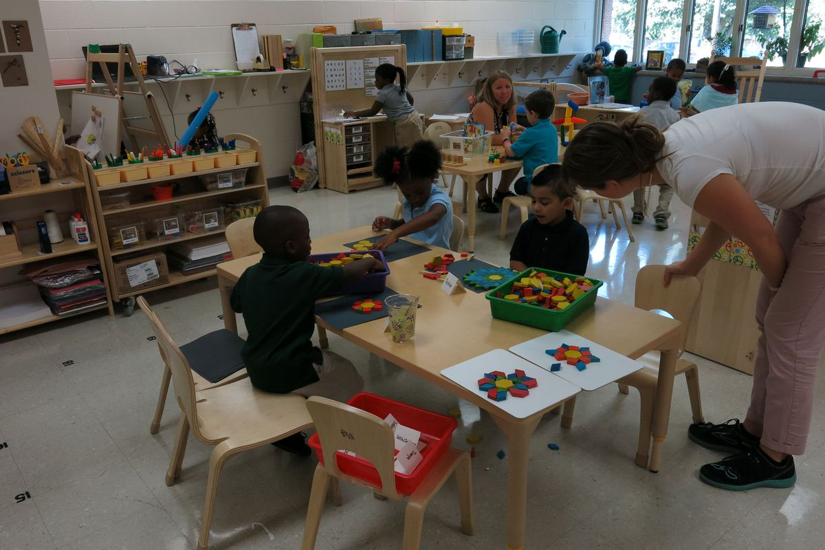 """Pre-kindergarten students play last year at Ross Early Learning Center, one of Metro Nashville Public School's """"model"""" pre-K centers. The principal of Ross testified in favor of a bill for high-quality pre-K Wednesday."""