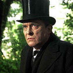 Jeremy Brett as Sherlock Holmes.