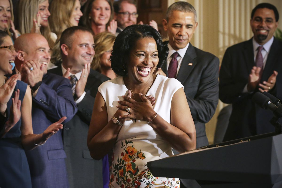 Jahana Hayes — previously honored as Teacher of the Year — is the first African American woman Connecticut has elected to Congress.
