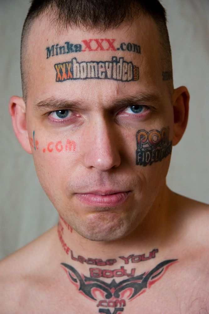 """f5e2f7035c3ba Billy Gibby is perhaps the best known human billboard of the  """"skinvertising"""" age. Stephen Nigl"""