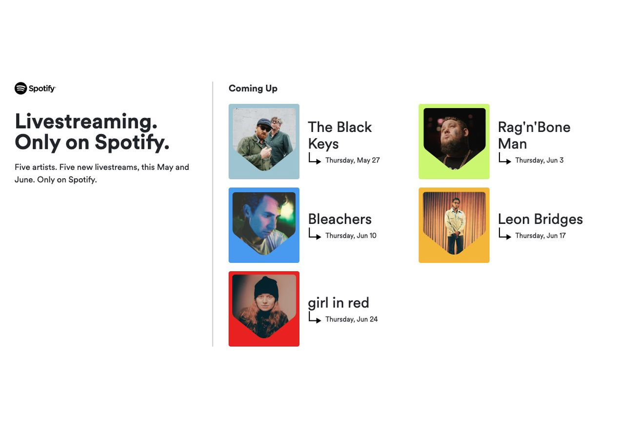 Spotify enters the virtual concert business, starts selling  tickets to events