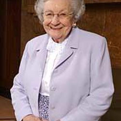 Marjorie Pay Hinckley, shown in 2003, had been in poor health since a January trip to Ghana. She died Tuesday at her home; her funeral will be Saturday in the Tabernacle.