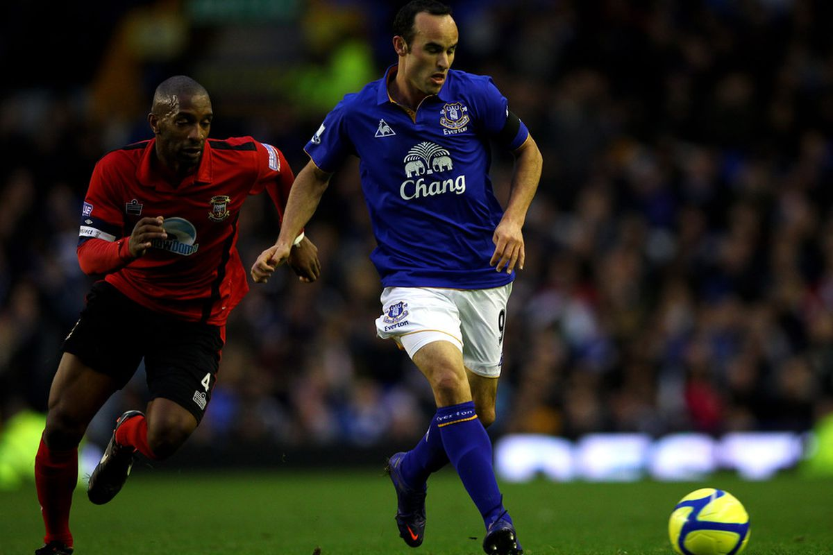 Landon Donovan - Everton's hopes may rest on his shoulders in the next two games