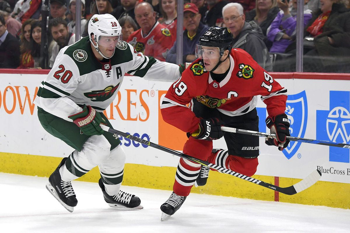 NHL: JAN 10 Wild at Blackhawks