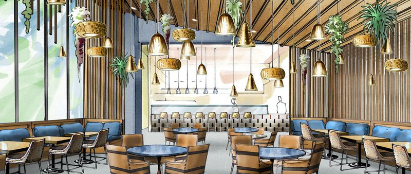Rendering Of A New Restaurant At Betsy South Beach Via