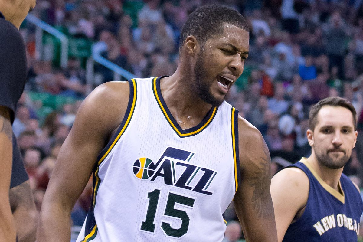 Derrick Favors is pissed, and so am I