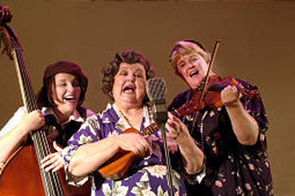"""From left, Amy May, Winkie Tedesco Horman and Nola Campbell in Grand Theatre production """"Radio Gals."""""""