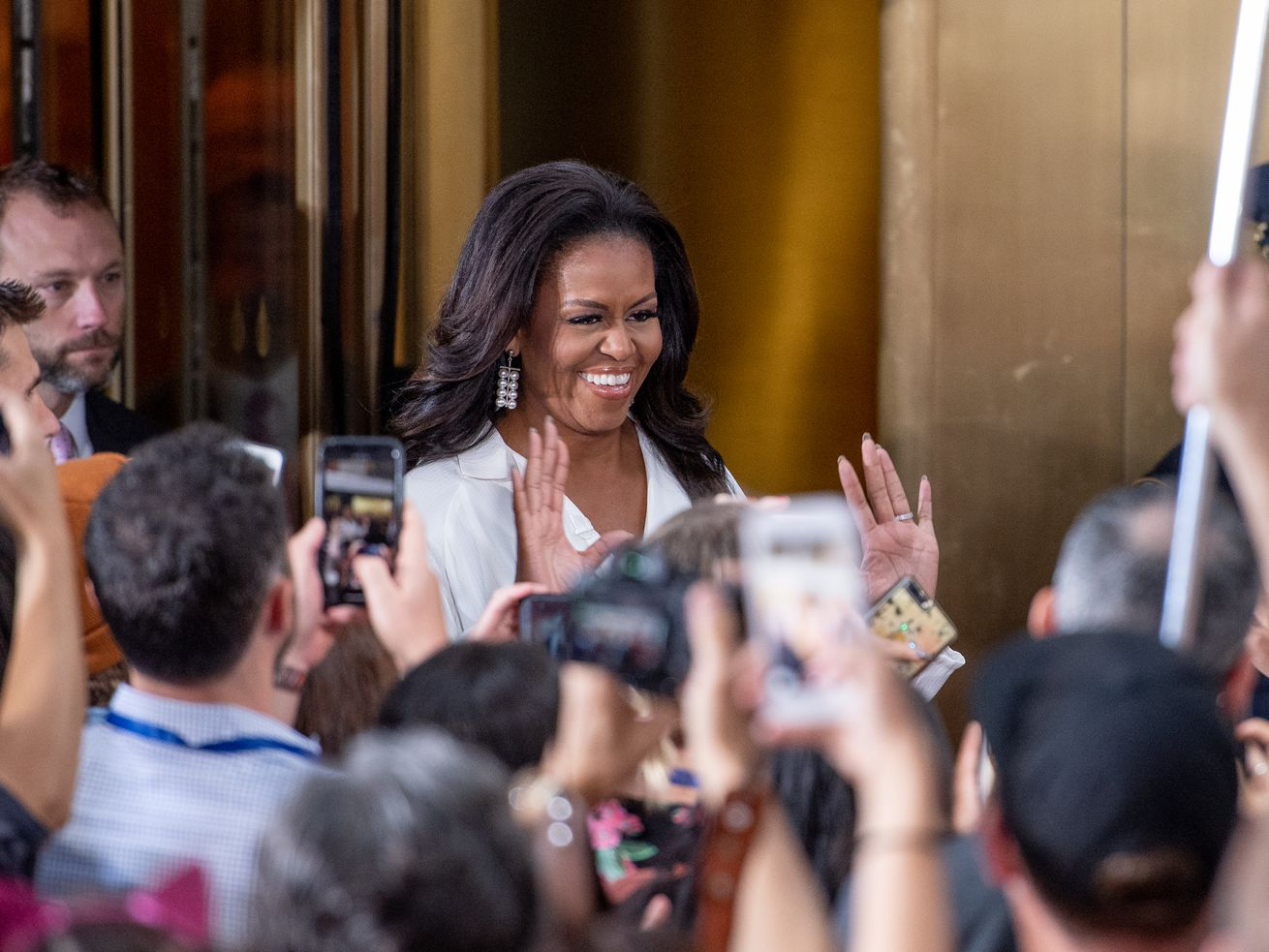 Michelle Obama makes an appearance on NBC's <em>Today</em> to celebrate the International Day of the Girl on October 11.