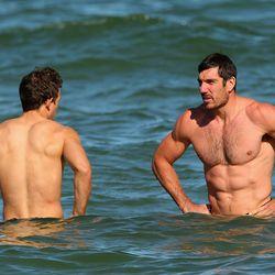 Aussie Rules Football players Luke Ball and Quinten Lynch