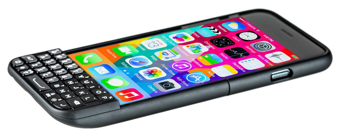 Typo 2 Keyboard Case on an iPhone 6