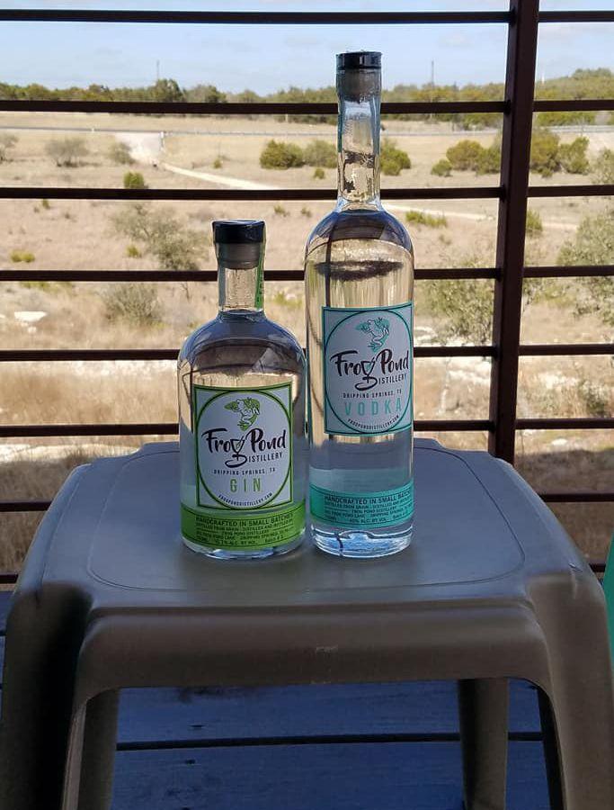 Frog Pond Distillery's bottles