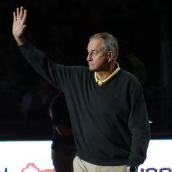 Former UConn Huskies men's basketball coach Jim Calhoun.