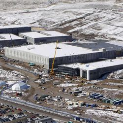 National Security Administration building construction near Bluffdale, Tuesday, March 20, 2012.