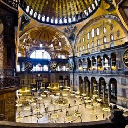 The Hagia Sofia is one of the most stunning buildings I've ever encountered.  Its sheer size is staggering and its thousand-year history is palpable. Over the centuries it's been a cathedral, a Mosque and now a museum. Gorgeous frescos and Mosaics of