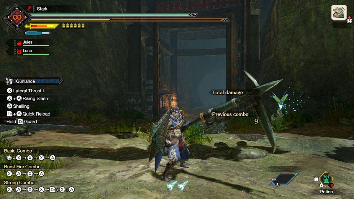 The gunlance from Monster Hunter Rise