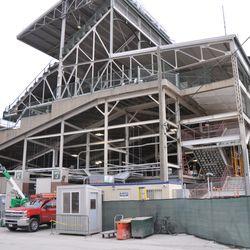 Northwest corner of the ballpark (Gate K/J) -