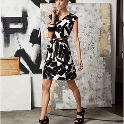 Painterly A Line Dress, $65.00