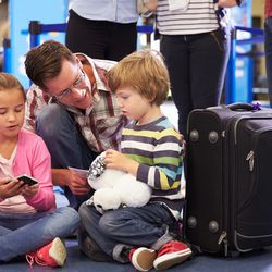 Flying with children can be a nightmare. But there are easy, high-tech ways to drastically cut wait times  and make the airport experience much nicer.