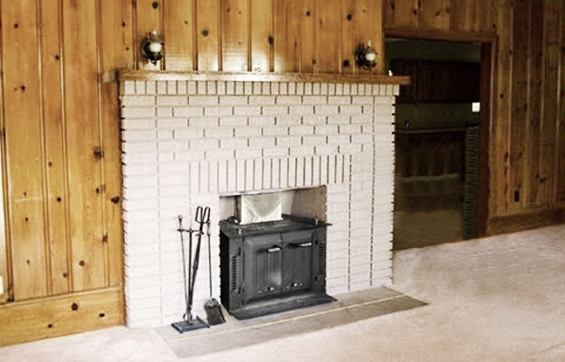 <p>Before: The flat, gray-painted brick surround and the tiny mantelshelf lacked both dimension and proportion.</p>