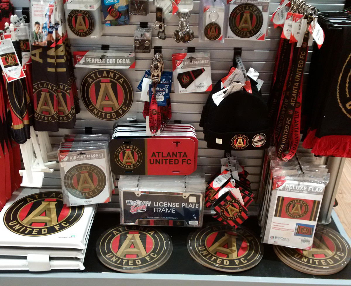 huge discount 2b167 e273c A tour of the brand new Atlanta United team store - Dirty ...