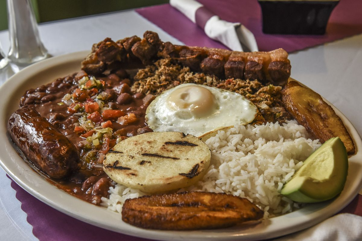 Arepas Pues, which combines Colombia, Cuban and Venezuelan dishes, for the $20 Diner column in Washington, DC.