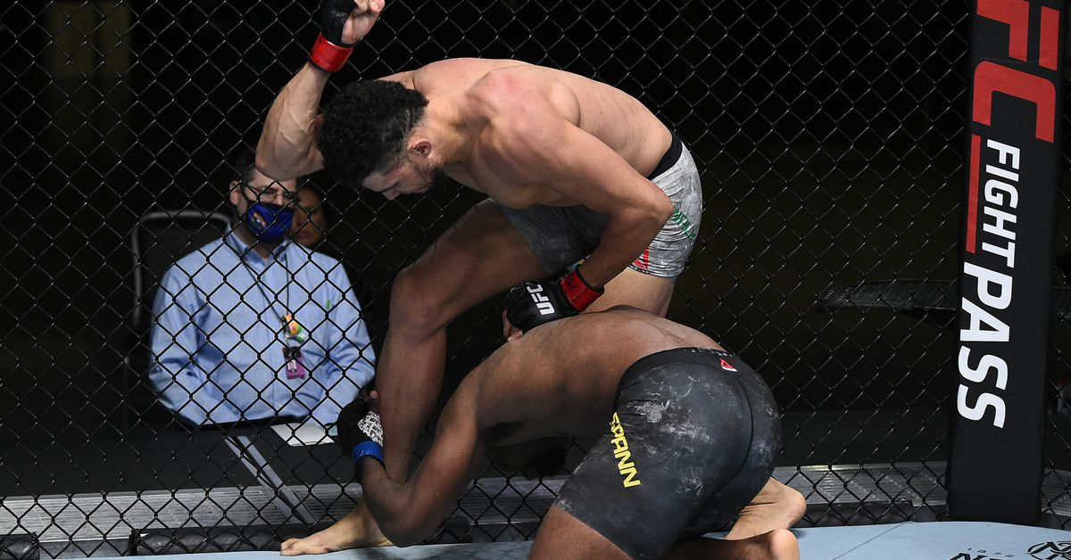 UFC Vegas 11 video: Johnny Walker demolishes Ryan Spann with devastating elbow strikes