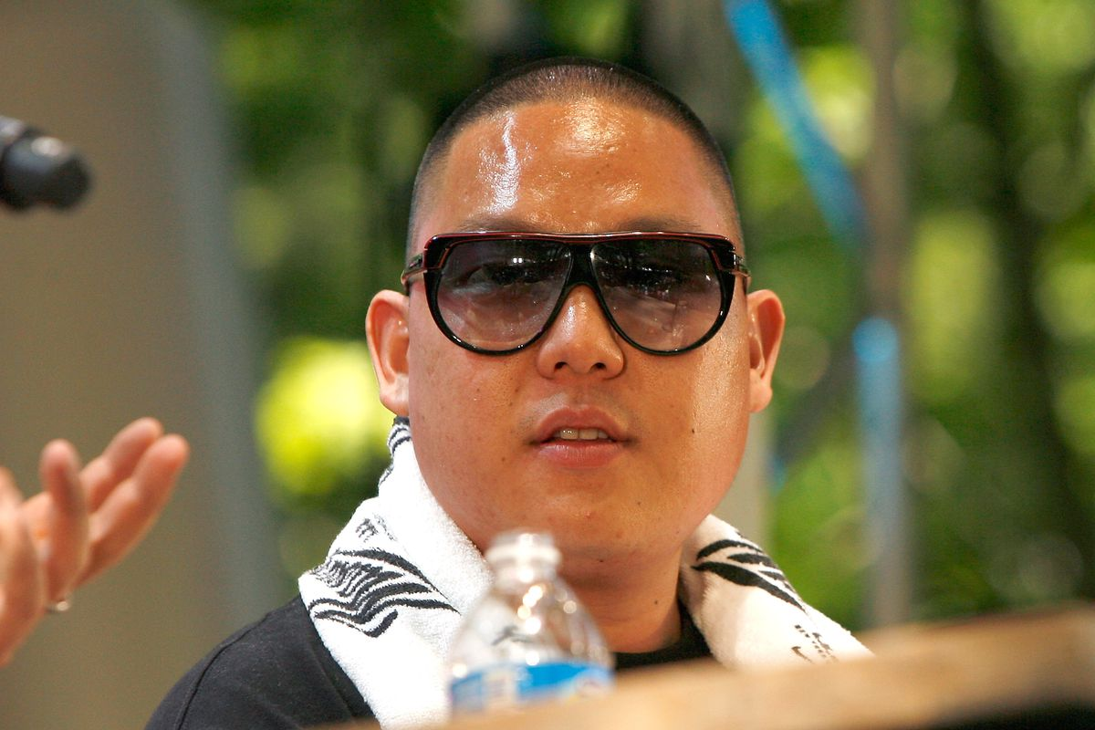 NEW YORK, NY - MAY 20:  Chef Eddie Huang speaks during 'Noshing With...' at the Great Googa Mooga 2012 at Prospect Park on May 20, 2012 in the Brooklyn borough of New York City.  (Photo by Mike Lawrie/Getty Images)