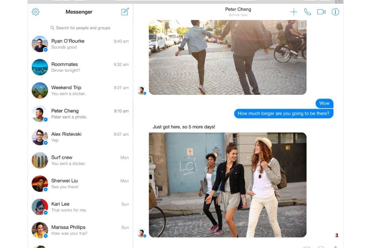 Facebook Launches Messenger for Web Browsers - Vox