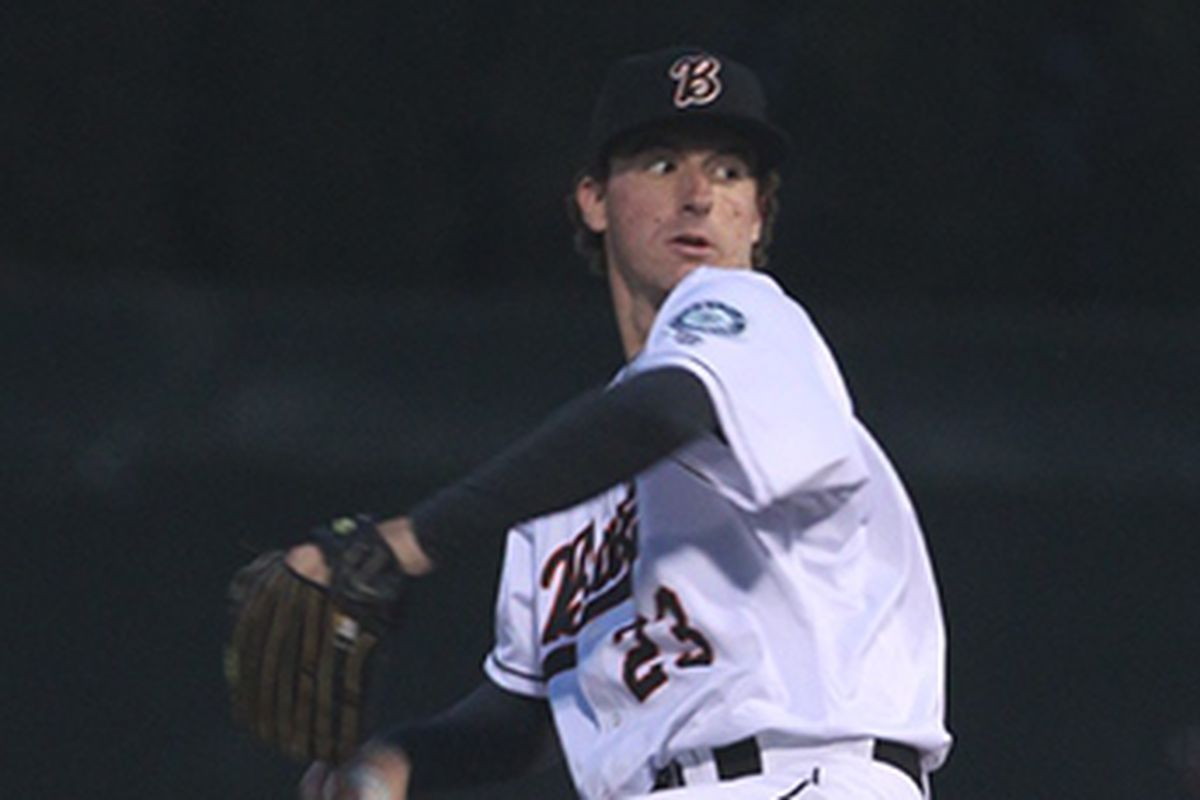 Andrew Moore had a strong start to the season for Bakersfield, so he's been promoted to AA ball.