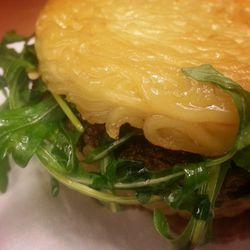 """Ramen Burger at Ramen Co. by <a href=""""https://www.flickr.com/photos/brooklynjay/13627451665/in/pool-eater/"""">BrooklynJay"""