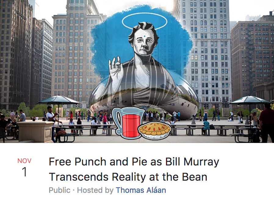 latest chicago internet fad crazy facebook events with the bean