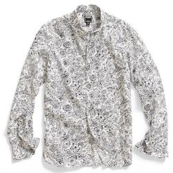 """<strong>Todd Snyder</strong> Floral Avion Poplin Shirt in White, <a href=""""http://www.odinnewyork.com/search.asp?Mode=Product&Type=Shop&TypeID=43&ProductID=3306"""">$245</a> at Odin New York"""