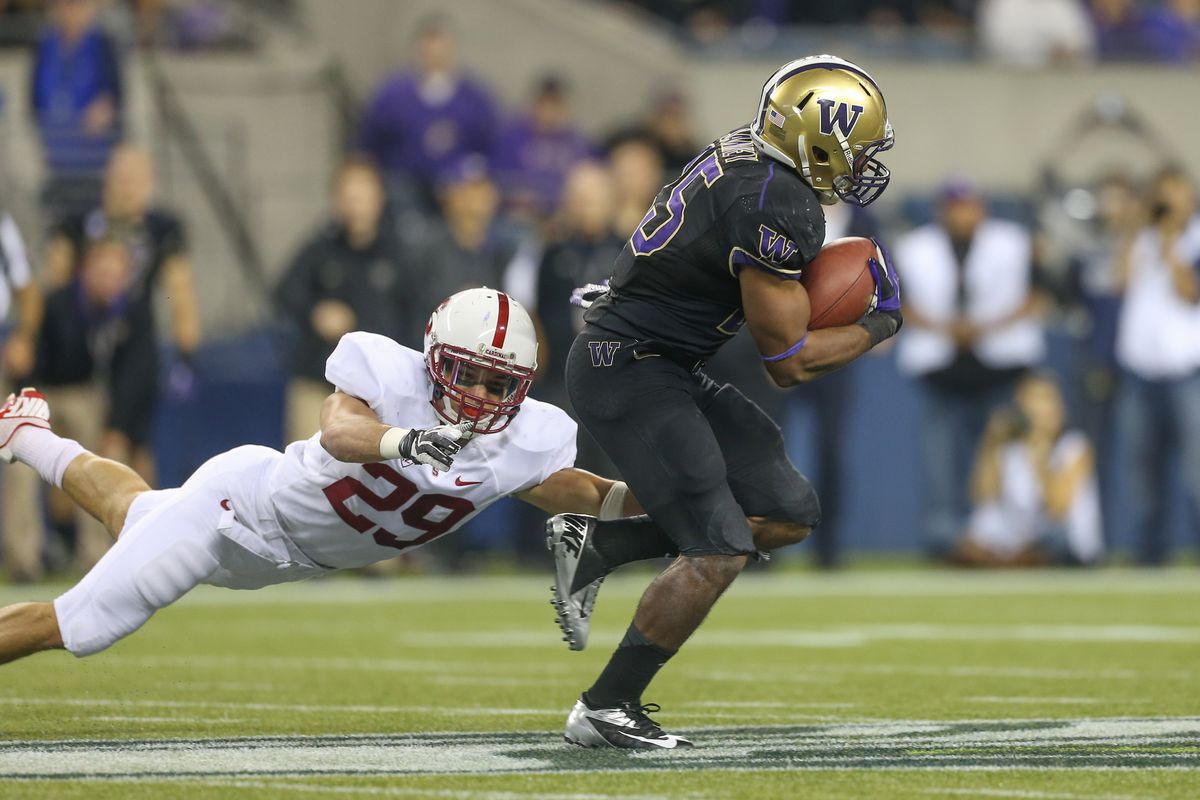 Can RB Bishop Sankey carry the Huskies past Stanford again?