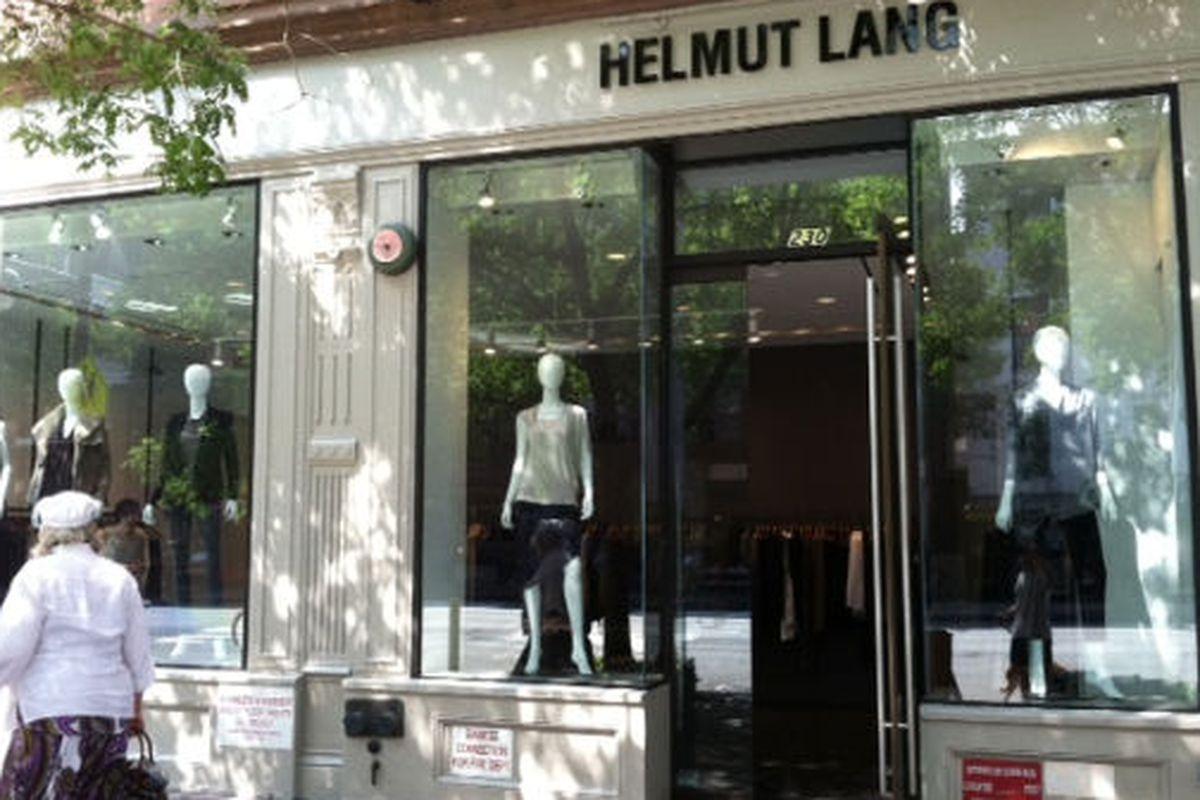 """Helmut Lang storefront via <a href=""""http://www.westsiderag.com/2011/09/01/upper-west-side-helmut-lang-opens-friday"""">West Side Rag</a>"""