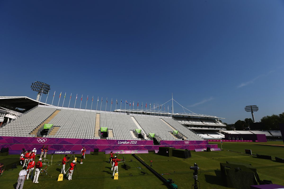 LONDON, ENGLAND - JULY 25:  Lord's Cricket Ground is not hosting its main sport at the Olympics, since it does not feature on the program. Instead, the world's most famous cricketing arena will host archery.  (Photo by Paul Gilham/Getty Images)