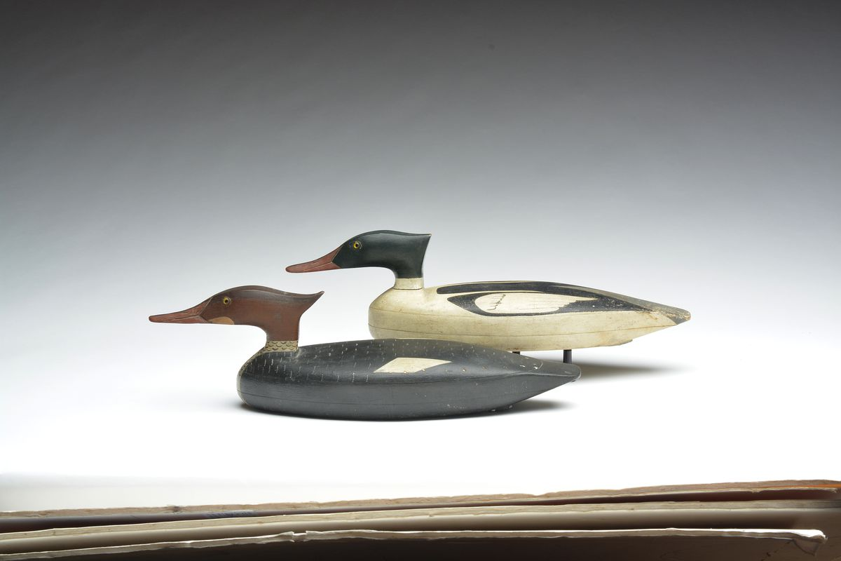 Mergansers by John Dawson in the Mackey collection from the Guyette &amp; Deeter, Inc. 2019 auction at Pheasant Run in St. Charles.<br>Provided by Guyette &amp; Deeter, Inc.