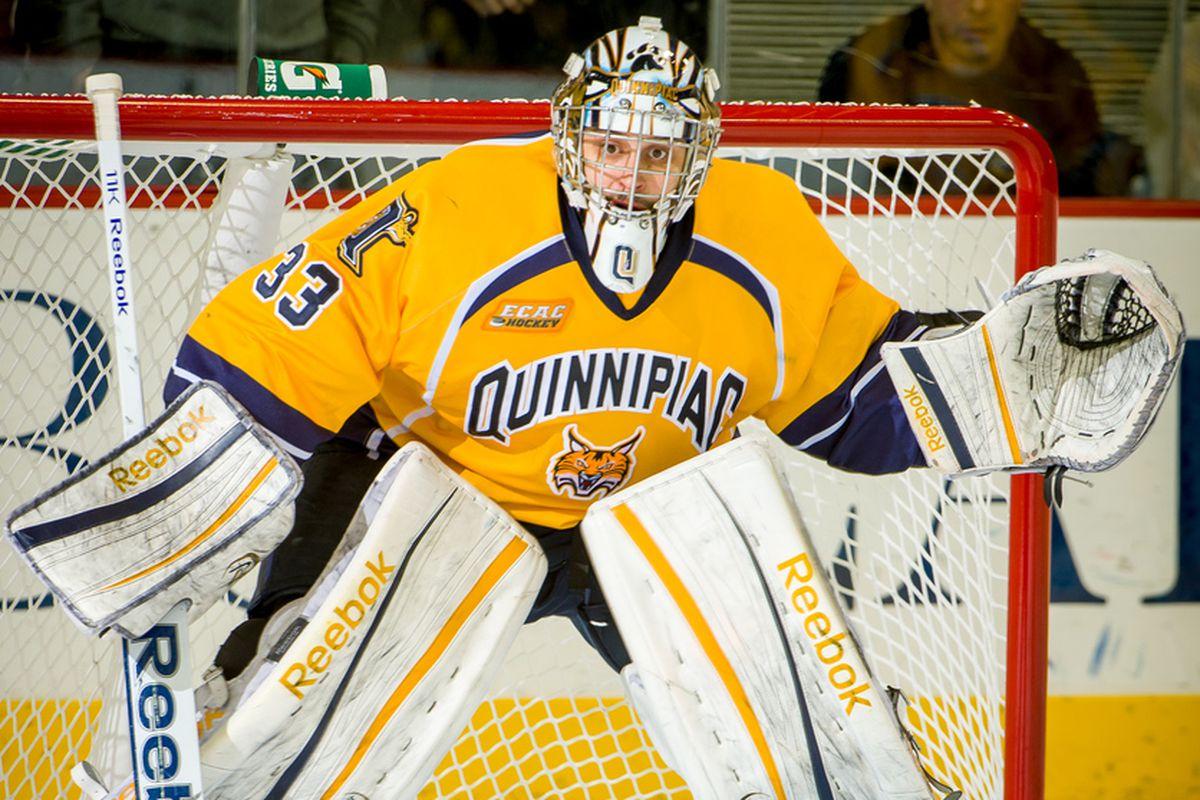 Quinnipiac goaltender Eric Hartzell