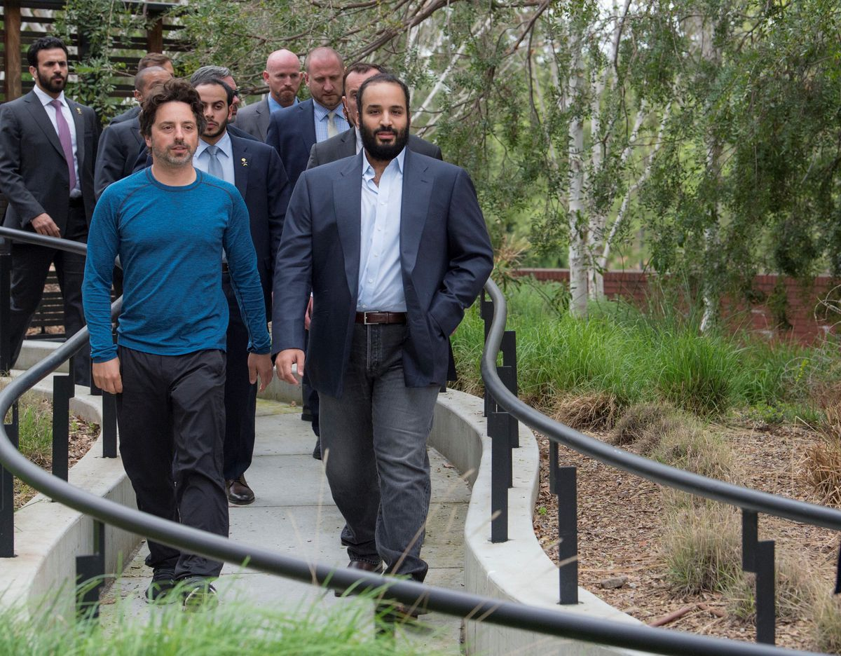 Photos: The Saudi Crown Prince met with tech VIPs this week in Silicon Valley, including Sergey Brin and Magic Leap's CEO