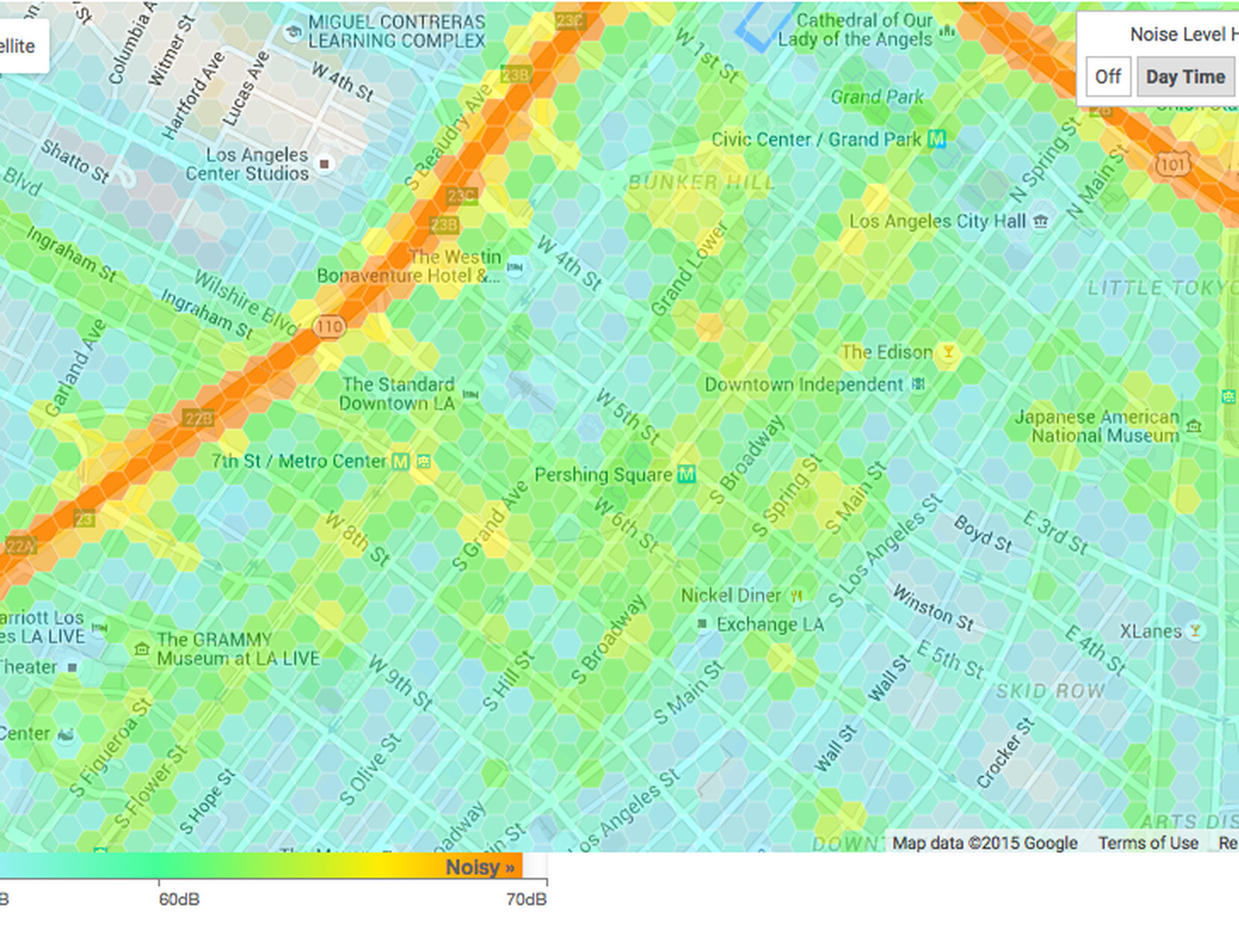 Mapping The Noise Levels At Every Point Around Los Angeles Curbed LA - Kaiser west los angeles map